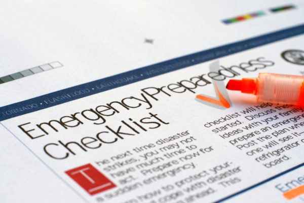 emergency response checklist