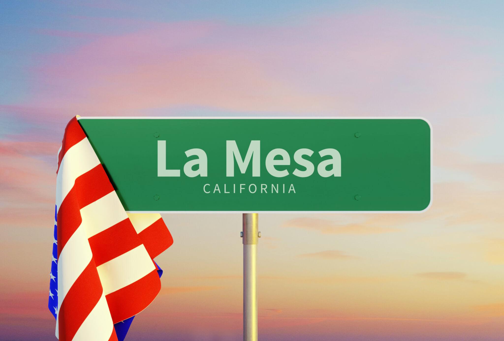 la mesa california road sign
