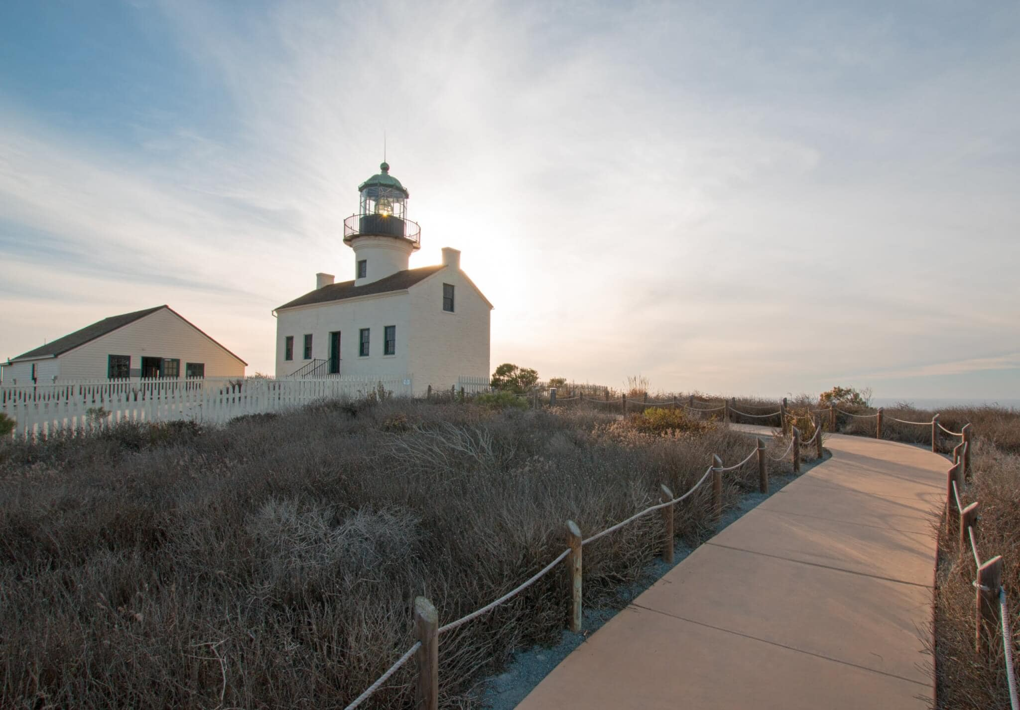 Lighthouse in Point Loma, CA