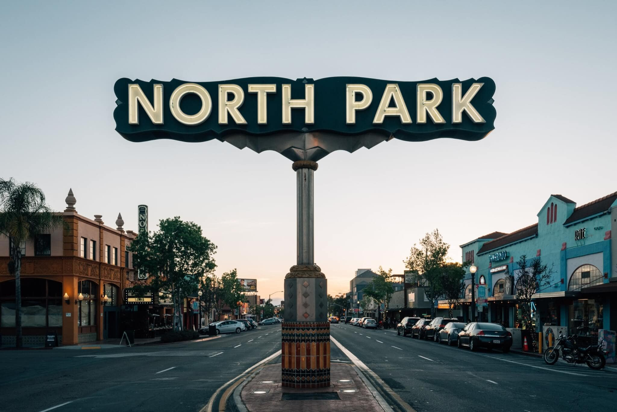 Sign for North Park neighborhood in San Diego, CA